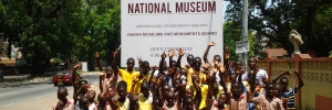 At the National Museum to learn about and experience the great history of Ghana
