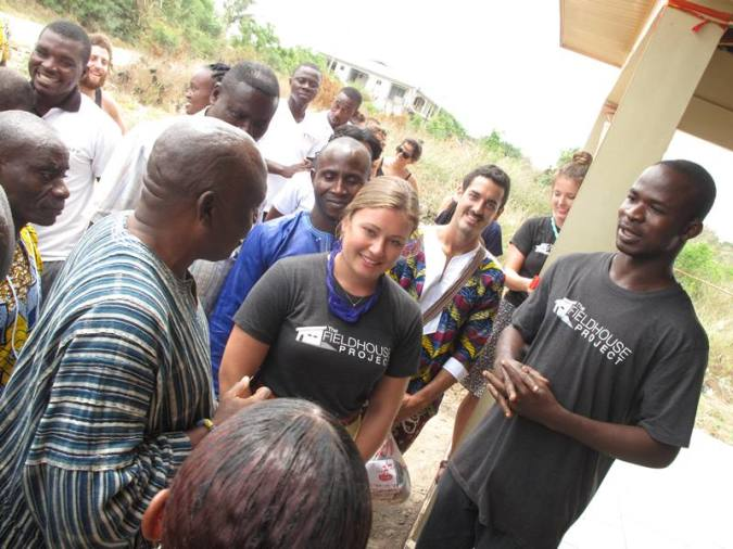 From the Right is Mr. Eric Opoku Agyemang, Olivia Roggers and Dr. Nana Obeng Wiabo V