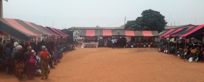 community members at the durbar grounds