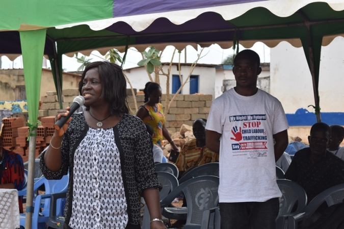 DSP Mrs. Florence Anaman educates community on the work of DOVVSU -Ghana Police Service